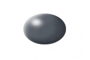 378: hedvábná tmavě šedá (dark grey silk) - Aqua