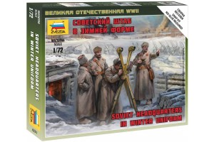 Wargames (WWII) - Soviet headquarters in winter uniform (1:72) - 6231