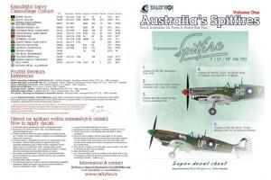 Obtlačky - RAF Spitfires Mk.VIII, part 1 (1:48) - 48043