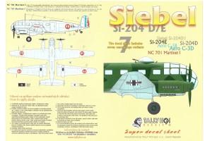 Obtlačky - Siebel Si-204 D (1:48) - 48025