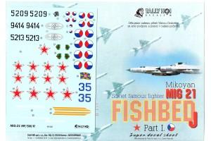 Obtlačky - Mig-21 MF, SM, R (1:48) - 48020