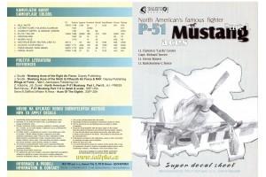 Obtlačky - P-51 B, C, D Mustang, part 1 - 72022