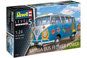 "VW T1 Samba Bus ""Flower Power"" (1:24) - 07050"