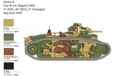 Wargames tank 15766 - CHAR B1 BIS (1:56)