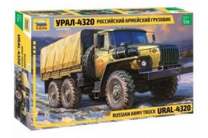 RUSSIAN ARMY TRUCK URAL 4320 (1:35) - 3654