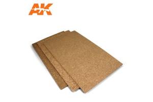 Cork Sheet 200x300x 1-2-3mm fine grained - 8049