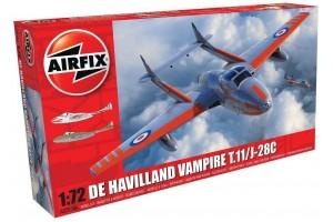 deHavilland Vampire T.11 / J-28C (1:72) - A02058A
