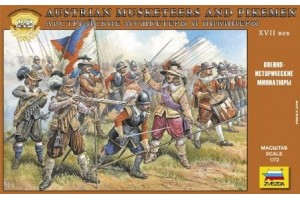 Wargames (AoB) figurky 8061 - Austrian Musketers and Pikeman (1:72)