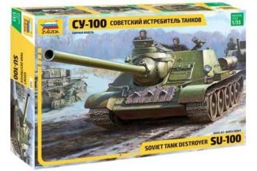 Soviet S.P.Gun SU-100 (new molds) (1:35) - 3688