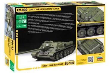 Model Kit tank 3688 - Soviet S.P.Gun SU-100   (new molds) (1:35)