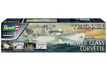 Plastic ModelKit TECHNIK loď 00451 - Flower Class Corvette (1:72)