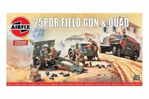 25pdr  Field Gun & Quad (1:76) - A01305V