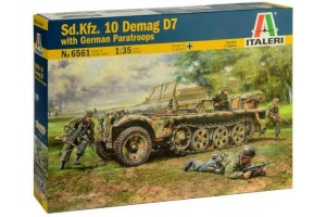 Sd. Kfz. 10 Demag D7 with German Paratroops (1:35) - 6561