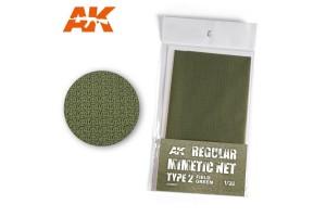 Poľná zelená kamuflážná sieť, typ 2 (CAMOUFLAGE NET FIELD GREEN TYPE 2) - AK8067