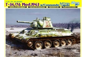 T-34/76 MOD. 1943 w/COMMANDER CUPOLA NO. 112 FACTORY (1:35) - 6584