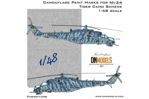 Mask set - Mil Mi-24 Hind Attack Helicopter Tiger Camo (1:48) - 48/827-058