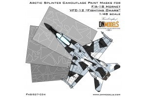 Mask set - F/A-18 Hornet Aggressor Arctic Splinter Camo (1:48) - 48/827-034