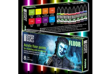 Fluor Paints Set - 8x