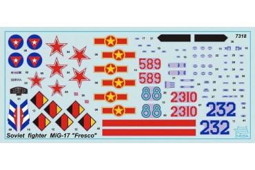 """Model Kit letadlo 7318 - MIG-17 """"Fresco"""" (1:72)"""