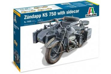 Zundapp KS 750 with sidecar (1:9) - 7406