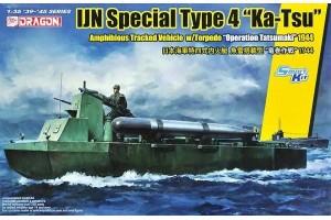 "Model Kit military 6849 - IJN SPECIAL TYPE 4 ""KA-TSU"" w/TORPEDO ""OPERATION TATSUMAKI"""