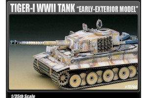 """TIGER-I WWII TANK """"EARLY-EXTERIOR MODEL"""" (1:35) - 13264"""