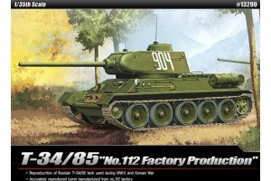 """T-34/85 """"112 FACTORY PRODUCTION"""" (1:35) - 13290"""