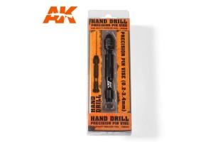 Ruční vrták (Hand drill) 0.2– 3.4mm - AK9006