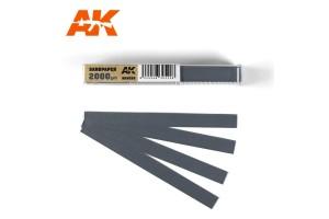 Brusný papír 2000 - mokré použití (Wet Sandpaper 2000) 50ks - AK9028