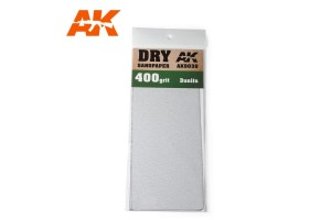Brusný papír 400 - suché použití (Dry Sandpaper 400) 3ks - AK9038