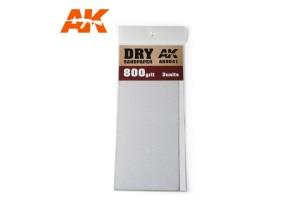 Brusný papír 800 - suché použití (Dry Sandpaper 800) 3ks - AK9041
