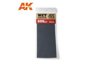 Brusný papír 600 - mokré použití (Wet Sandpaper 600) 3ks - AK9073
