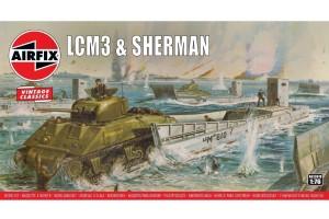 LCM3 & Sherman Tank (1:76) - A03301V