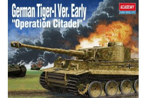 "Model Kit tank 13509 - German Tiger-I Ver. EARLY ""Operation Citadel"" (1:35)"