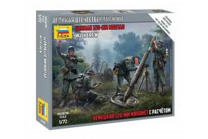 Wargames - German 120mm Mortar w/Crew (Snap Fit) (1:72) - 6268