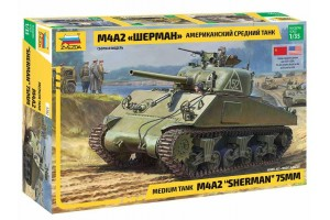 Model Kit tank 3702 - M4 A2 Sherman (1:35)
