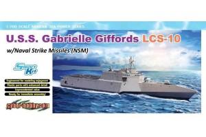 Model Kit loď 7147 - U.S.S. Gabrielle Giffords LCS-10 w/NSM (1:700)