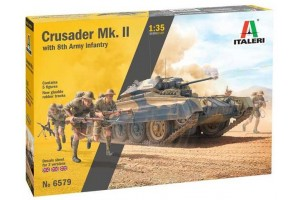Model Kit military 6579 - Crusader Mk. II with 8th Army Infantry (1:35)