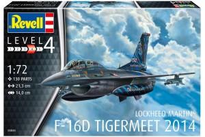 ModelSet letadlo 63844 -  Lockheed Martin F-16D Tigermeet 2014 (1:72)