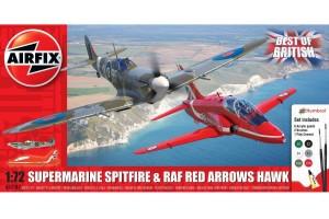 Gift Set letadla A50187 - Best of British Spitfire and Hawk (1:72)
