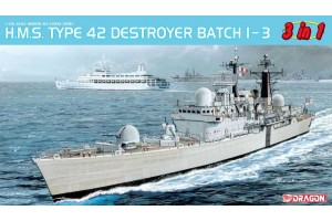 Model Kit loď 7152 - H.M.S. Type 42 Destroyer Batch 1 ~ 3 (3 in 1) (1:700)