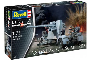 Plastic ModelKit military 03325 - 8,8 cm Flak 37 + Sd.Anh.202 (1:72)