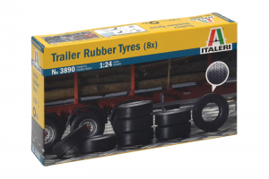 TRAILER RUBBER TYRES (8x) (1:24) - 3890