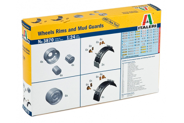 WHEELS RIMS and MUD GUARDS (1:24) - 3870