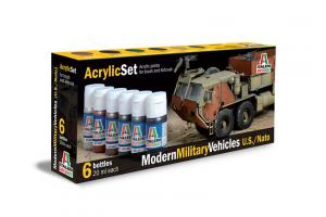 Sada 442AP: MODERN MILITARY VEHICLES (U.S./N.A.T.O.) 6 ks - akryl
