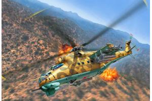 Plastic ModelKit vrtulník 04951 - Mil Mi-24D Hind (1:100)