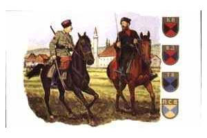 Model Kit figurky 6065 - GERMAN COSSACK CAVALRY (1:35)