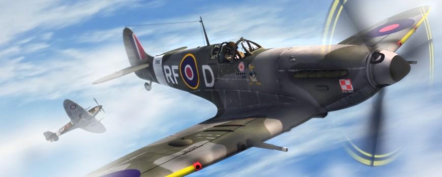 Maska kamufláže na Supermarine Spitfire pro všechna měřítka