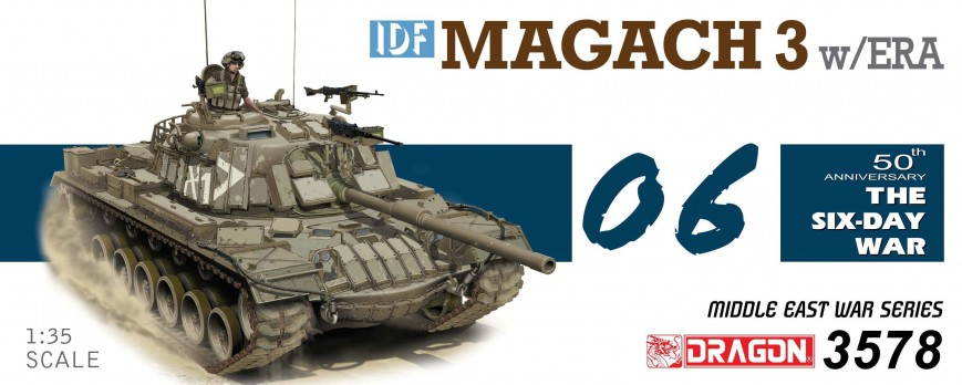 Dragon - Magach 3 (1:35) - kamufláž a patina