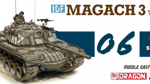 Dragon - Magach 3 (1:35) - kamufláž a patina